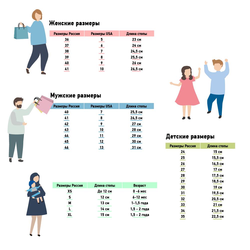 таблица размеров ugg