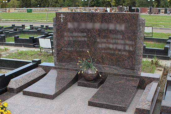 Горизонтальный памятник на могилу