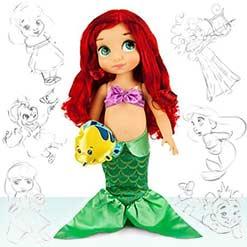 кукла русалочка Ариэль с питомцем рыбкой
