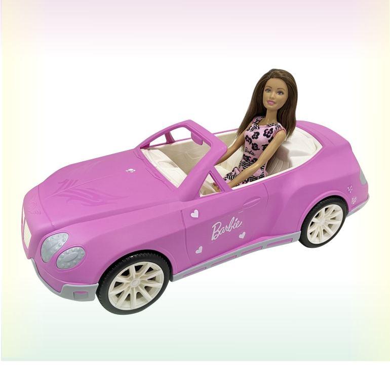 Машина кабриолет для кукол Барби