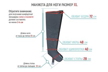 Размеры манжеты для ноги