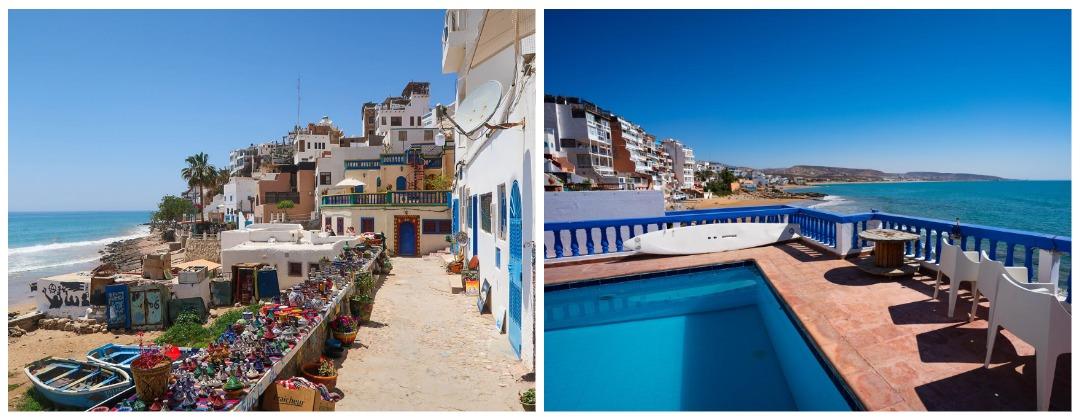 Серф-кемп на берегу океана Марокко