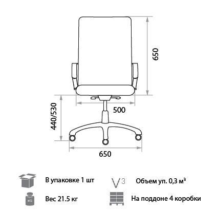 Кресло Джордан размеры