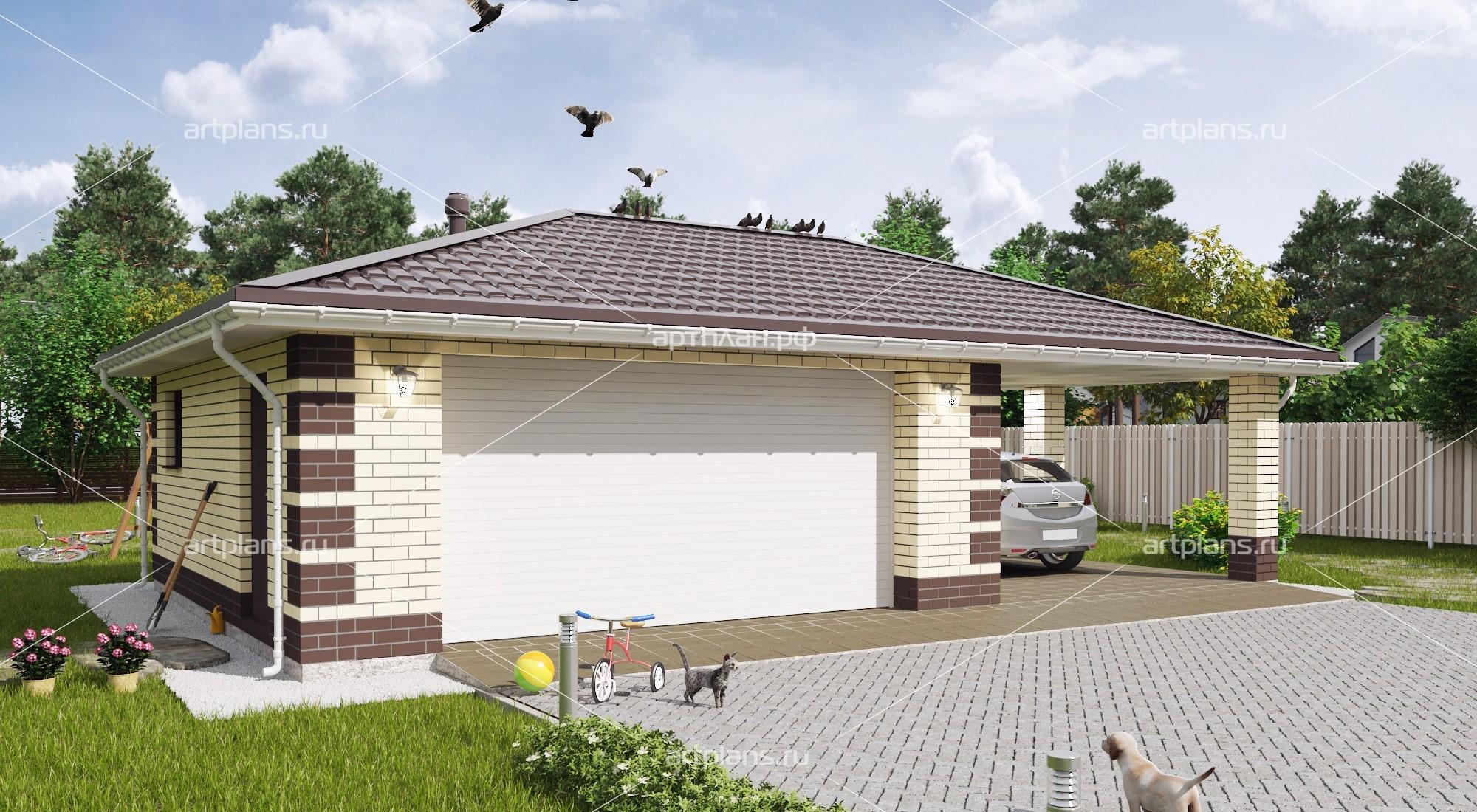 Более 50 типовых проектов гаражей