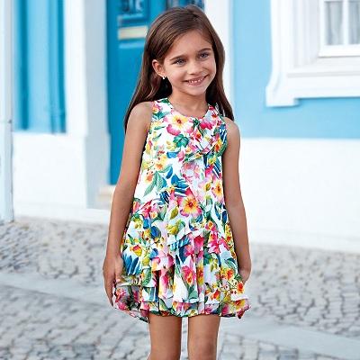 Одежда Mayoral Весна-Лето 2019, платье тропическое