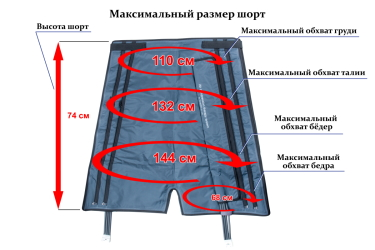 Максимальный размер шорт
