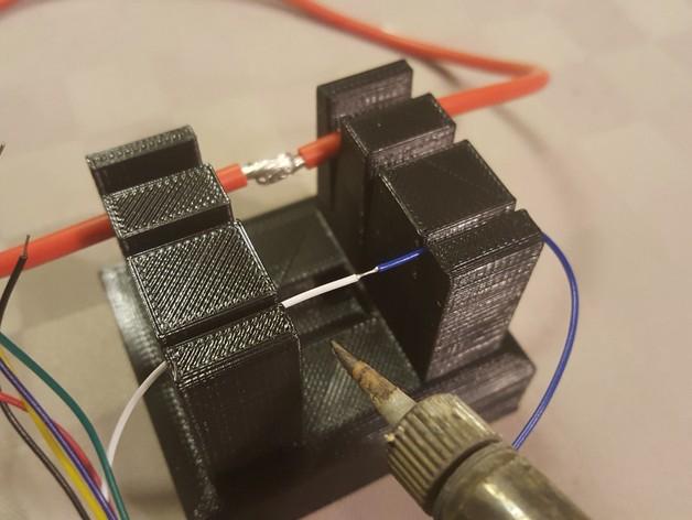 держатель проводов для пайки