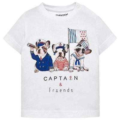 Одежда Mayoral Весна-Лето 2019, футболка с морскими зверями