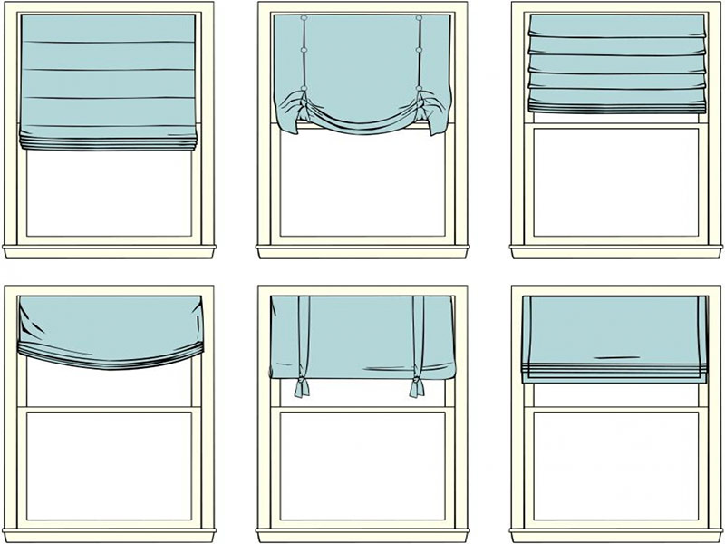 Римские шторы виды