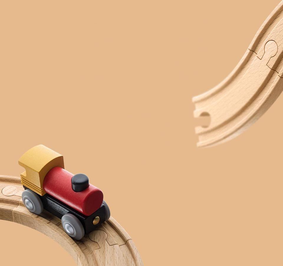 Деревянная железная дорога Mitu Toy Train Set 63 Pcs материалы