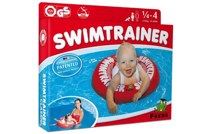 Детский круг Swimtrainer для плавания красного цвета