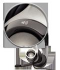 On-ear audio controls