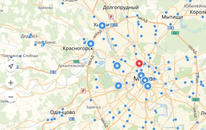 Яндекс Маркет показывает расположение магазинов на карте
