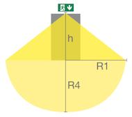 Настенный светодиодный указатель IP65 SOLID EXIT с нижней подсветкой
