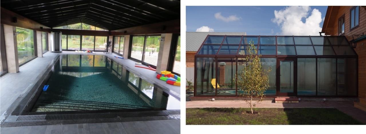 Остекление коттеджей и загородных домов с бассейном