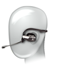 Adjustable ear pieces, behind-the-head design