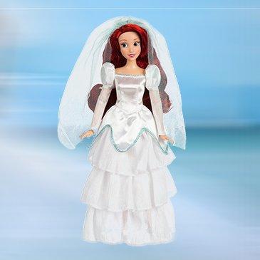 Кукла Ариэль в свадебном платье