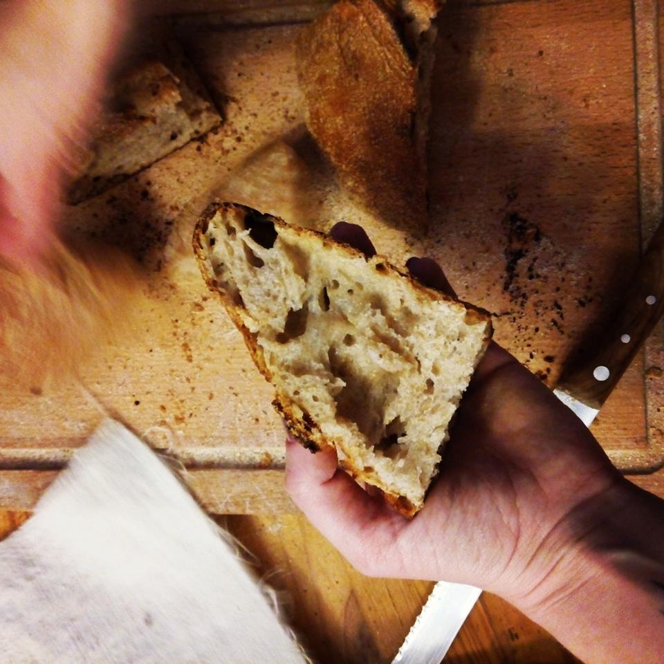 Чабатта из муки Черный хлеб на МК