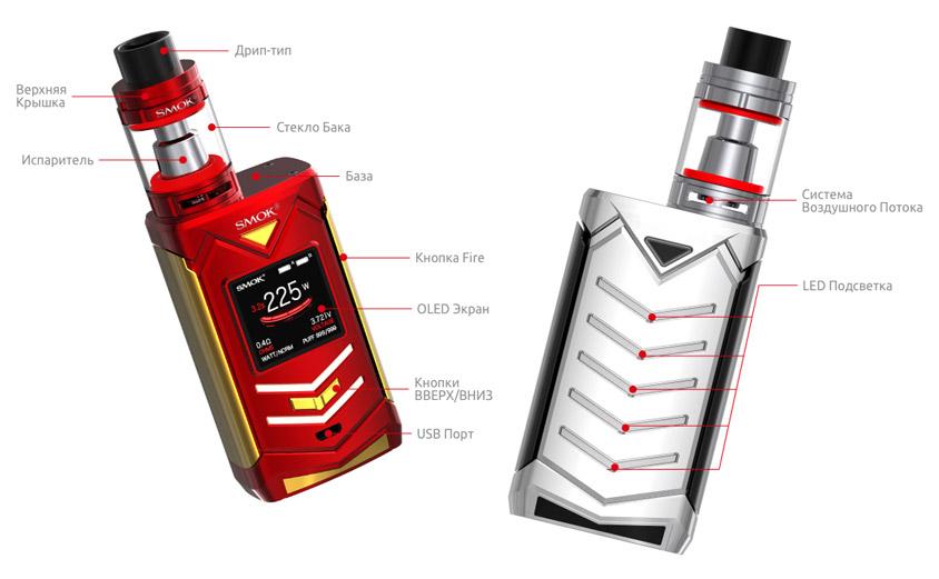 Строение SMOK Veneno + TFV8 Big Baby Light Edition Kit