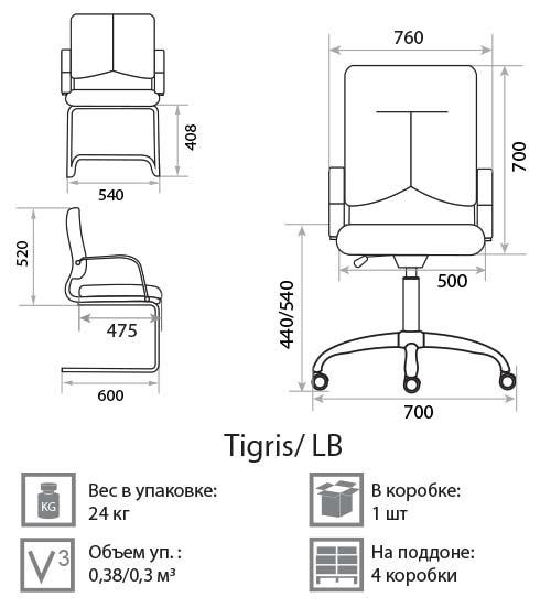 Кресло Тигрис размеры
