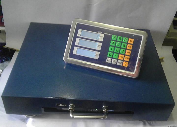 Платформенные весы со встроенным в табло беспроводным модулем Bluetooth