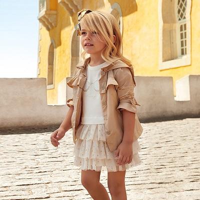 Одежда Mayoral Весна-Лето 2019, платье бежевое