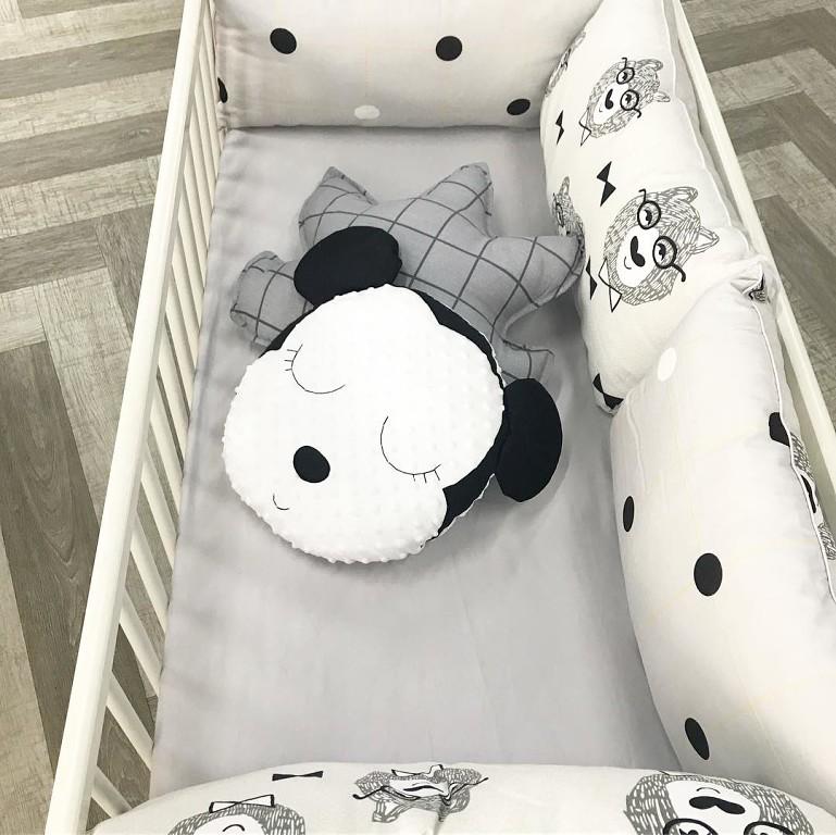 Комплект в кроватку новорожденному в скандинавскойм стиле