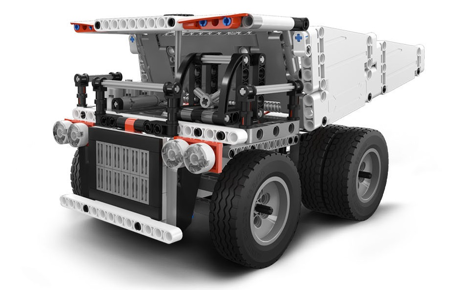 Игрушка трансформер MiTu Building blocks Mine Truck грузовик крупным планом