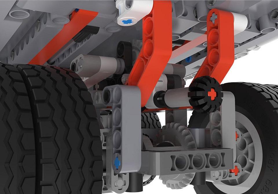 Игрушка трансформер MiTu Building blocks Mine Truck скрепляющие элементы