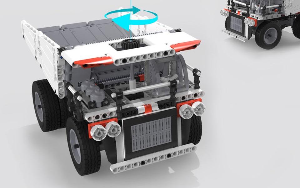 Игрушка трансформер MiTu Building blocks Mine Truck рулевое управление