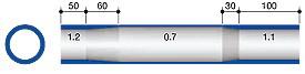 профиль баттированной трубы для велосипедной рамы