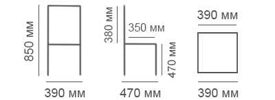 Габаритные размеры стула Дебют-М
