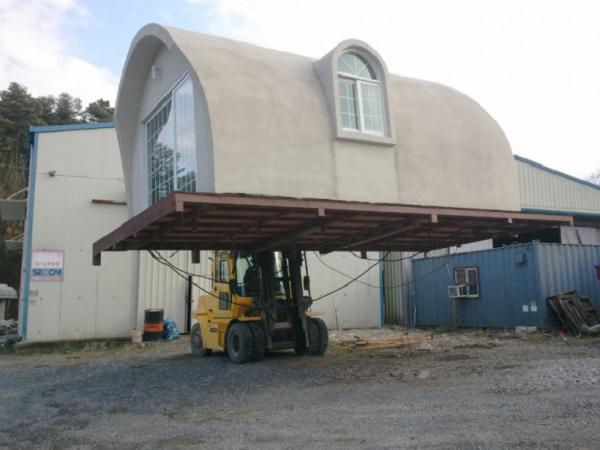 Купольный дом из пенопласта