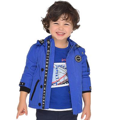 Одежда Mayoral Весна-Лето 2019, куртка синяя для мальчиков