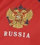 Красный спортивный костюм герб