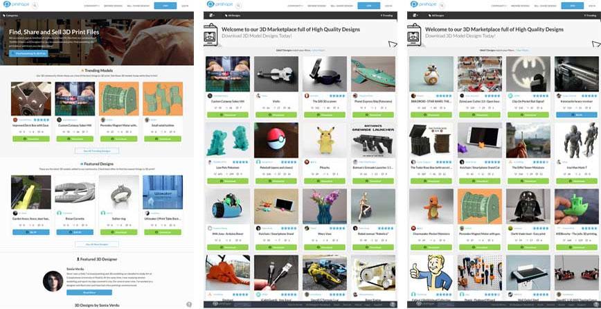 Модели для 3д принтера бесплатно pinshape.com