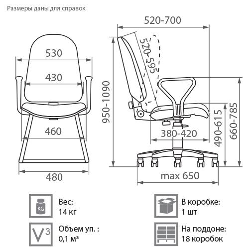 Кресло Плутон размеры