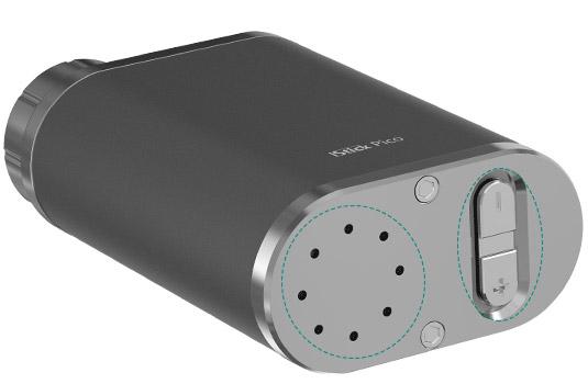 Вентиляционные отверстия в нижней части iStick Pico предназначены для лучшего отвода тепла, кнопки регулировки также расположены в нижней части.