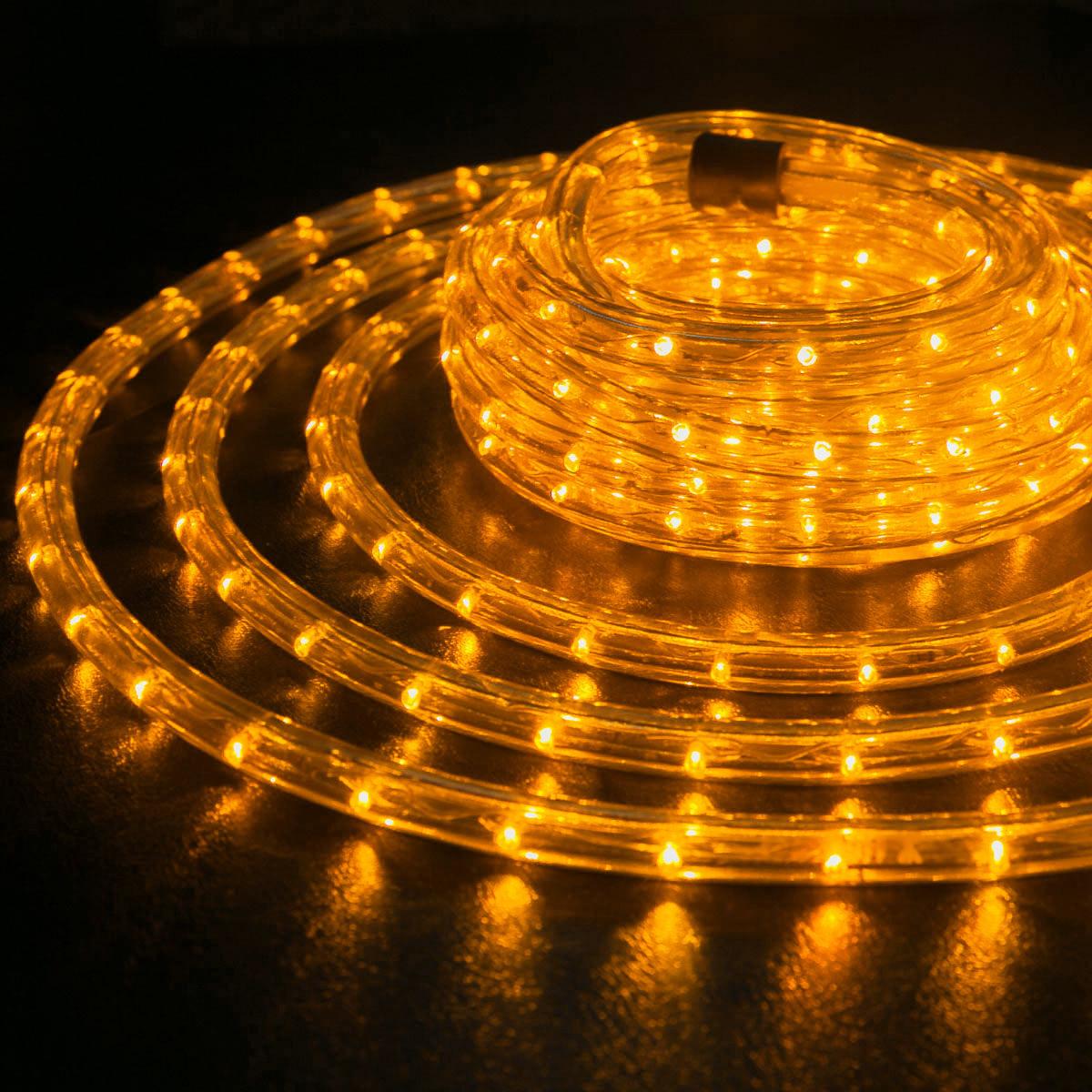 Светодиодный дюраалйт 10 метрво желтый цвет готовый набор шланга LED