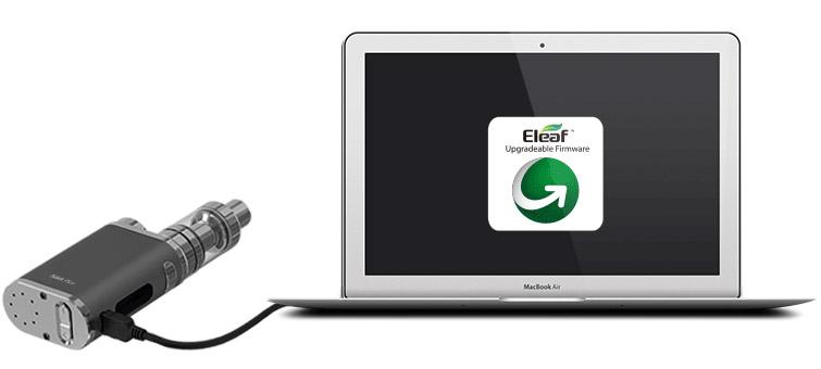 Встроенное программное обеспечение iStick Pico может быть обновлено путеё подключения устройства к компьютеру через порт USB с помощью кабеля Micro USB.