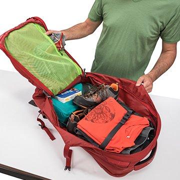 Полное открытие рюкзака Farpoint 40
