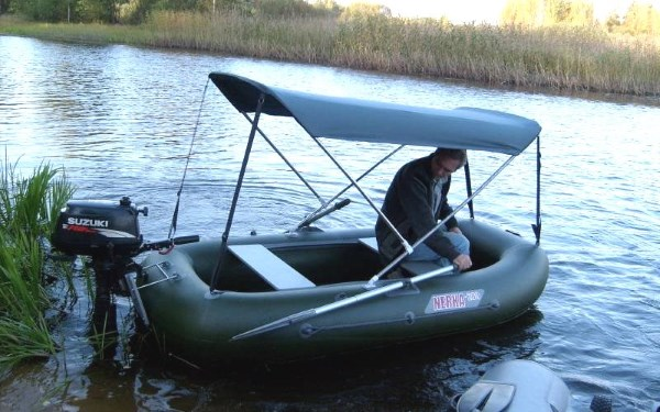Каркасный тент на лодку