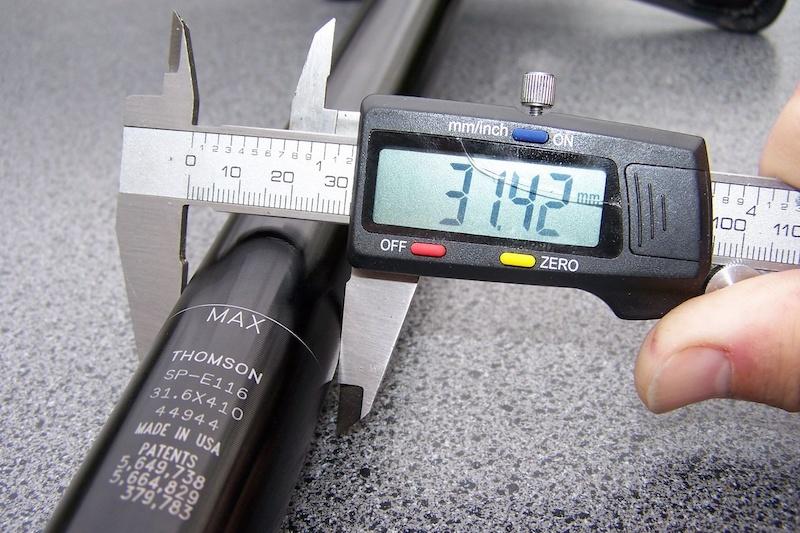 Как измерить подседельный штырь
