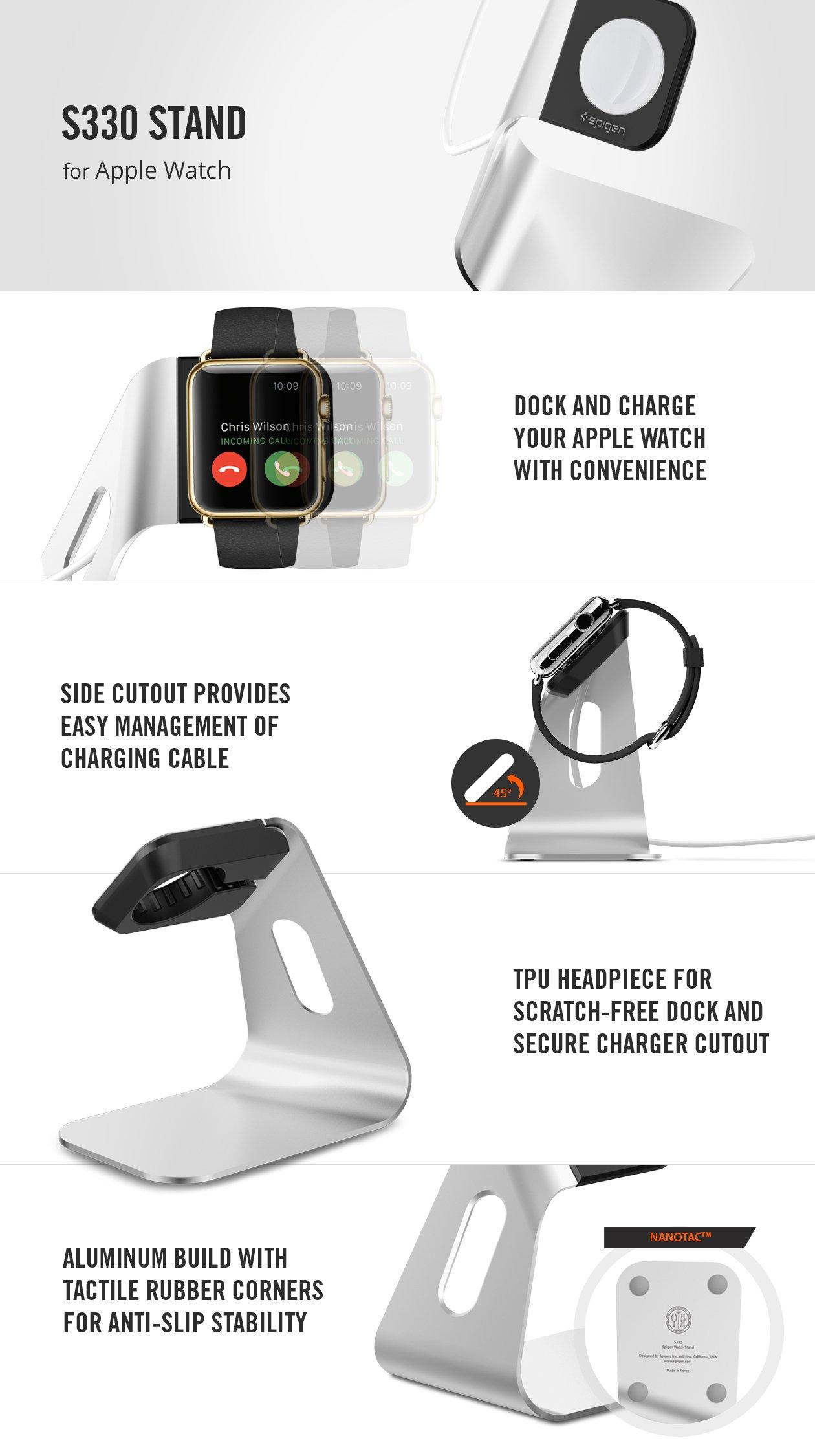 Подставка Spigen Stand S330 SGP11555 для Apple Watch 38mm Series 3 / 2 / 1.