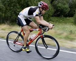 Посадка на шосейному велосипеді
