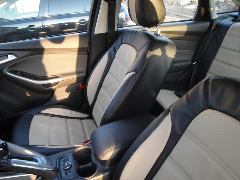 Ассортимент чехлов из экокожи на сиденья Форд Фокус 3