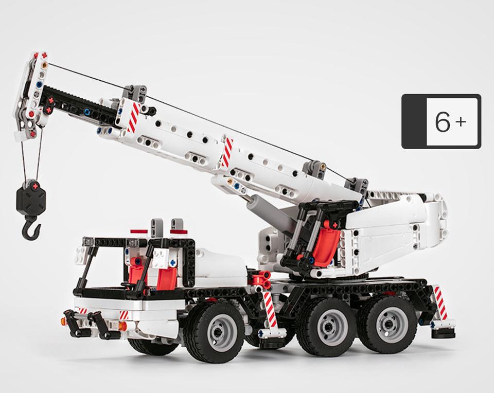 Конструктор MITU Building Block Engineering Crane MTJM03IQI машинка крупным планом