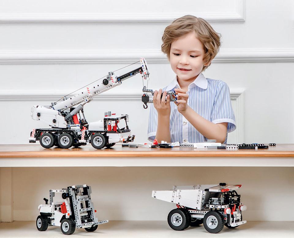 Конструктор MITU Building Block Engineering Crane MTJM03IQI ребенок собирает игрушку
