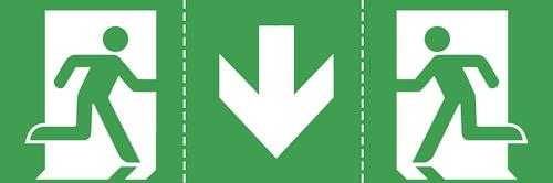 Универсальная пиктограмма для эвакуационного указателя EXIT-S
