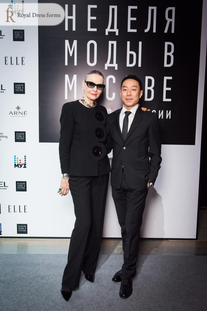 Станислав Ли с представителем модного дома Пьера Кардена